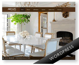 Arenas Florist WordPress website design