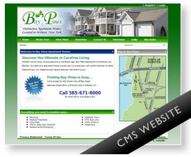 Webster NY Apartment Website