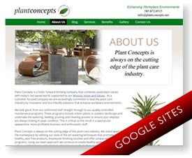 Google Sites for Indoor Plant Company