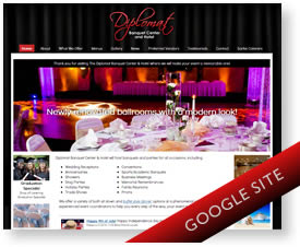 Google Sites Design for Banquet Hall