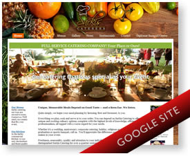 Google Sites Design for Catering Company