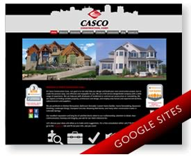 Google Sites for Construction Company