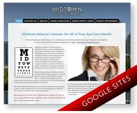 Google Sites for Optometrist