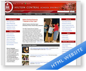 Hilton Central School District XHTML Website