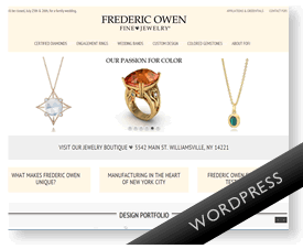Wordpress shop for jewelry shop