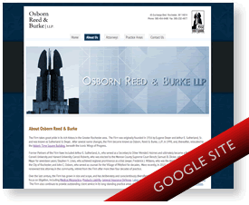 Osborn, Reed & Burke custom Google Sites design