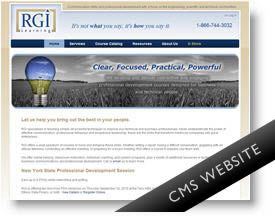 RGI Learning - CMS Website
