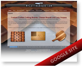 Custom Google Sites theme - cutting boards