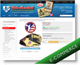 Valle Baseball Ecommerce Website.