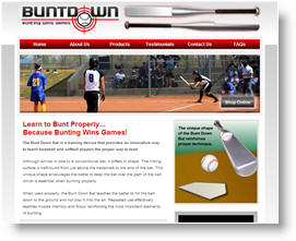 Webdesign Sample - BuntDown Bats