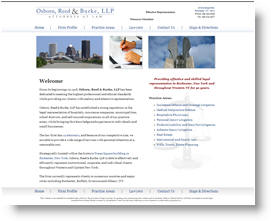 Osborn, Reed & Burke - Webdesign Sample