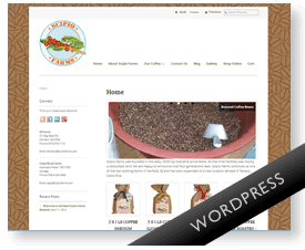 Wordpress shop for coffee farm