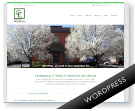 Engineering firm WordPress website
